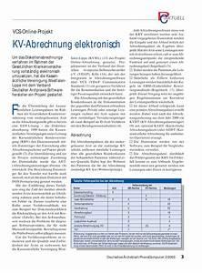 Abrechnung Kv : vcs online projekt kv abrechnung elektronisch ~ Themetempest.com Abrechnung