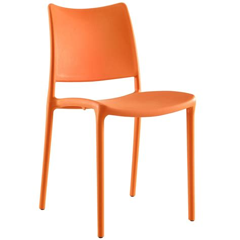contemporary stackable plastic dining side chair