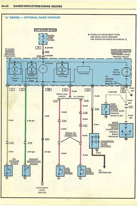 87 El Camino Wiring Diagram by 1982 1988 Monte Malibu Chevrolet Classic Dash Kit Carbon
