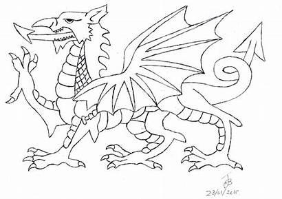 Dragon Wales Welsh Drawing Draft Vector Getdrawings