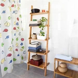 Etagere Murale Bambou : etagere echelle les bons plans de micromonde ~ Teatrodelosmanantiales.com Idées de Décoration