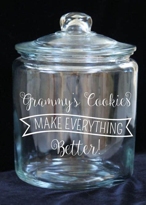 gallon glass cookie jar grammys cookies