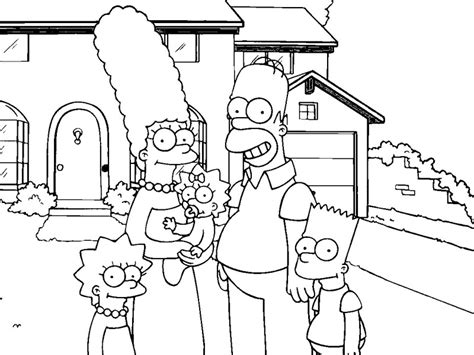 De Simpsons Kleurplaten by Simpsons Coloring Pages Coloring Pages To Print