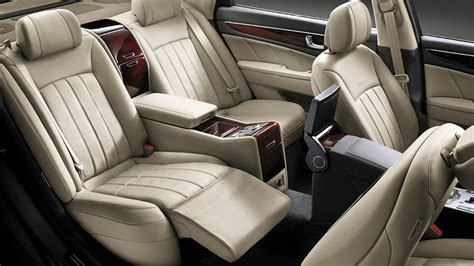 cars with reclining rear seats the equus features reclining back seats http www
