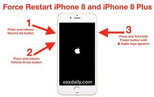 how to reboot an iphone how to restart iphone 8 and iphone 8 plus