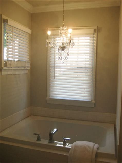 chandelier over tub for the home pinterest