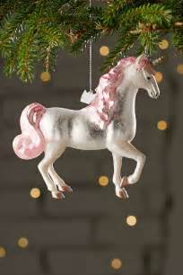 glitter unicorn ornament trees urban outfitters and christmas trees