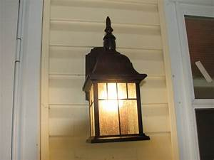 Outdoor porch lights front wall