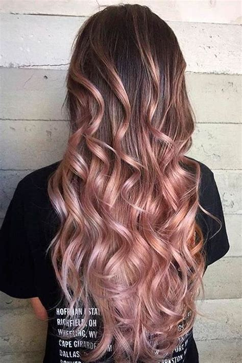 24 Cute Fall Rose Gold Hair Color Ideas For Your