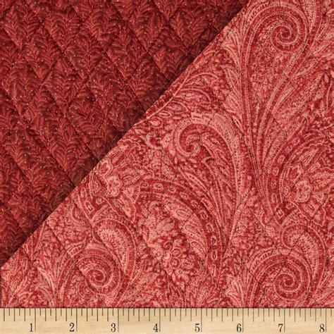sided quilted fabric sided quilted paisley rust