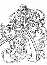 Coloring Pages Princess Dark Fairy Anime Popular sketch template