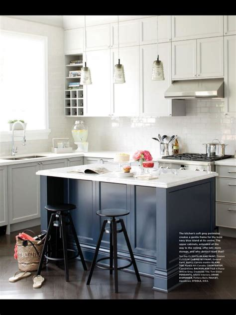 Blue Kitchen Island  Blue In The Kitchen  Pinterest