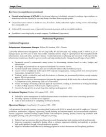 manufacturing plant manager resume exles manufacturing resume