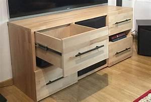 Fabriquer Meuble Bois : comment fabriquer son propre meuble tv sur mesure en bois ~ Voncanada.com Idées de Décoration