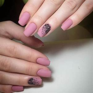 Matte Pink Nails Image collections - Diagram Writing ...