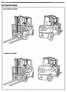 Original Illustrated Factory Workshop Service Manual For Toyota Lpg Forklift Truck Type 7fgu