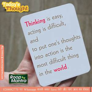Jokes & Thoughts: Thought-of the-day-In English-Roopmantra