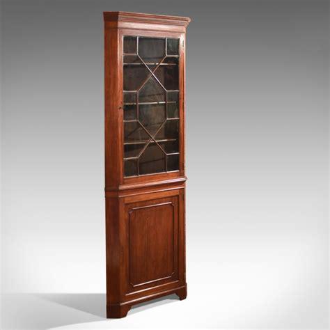 vintage corner cabinet edwardian glazed antique corner cabinet c 1910 3179