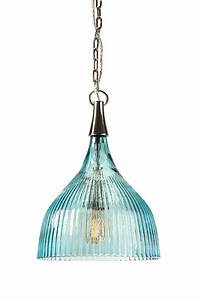 Sidni teal luster ribbed pendant light my home redo