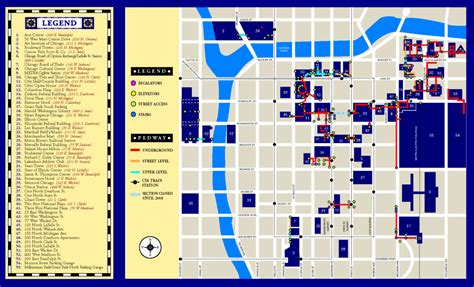 building walkway pedway map park millennium
