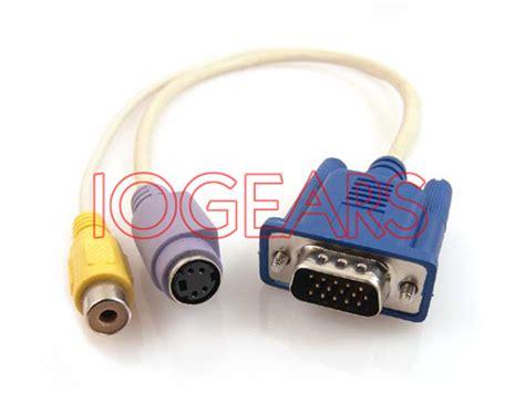 cable conversor de salida vga a rca para conectar un