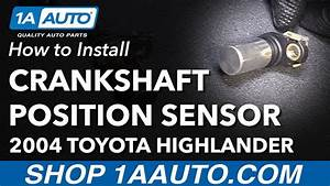 How To Replace Crankshaft Position Sensor 01