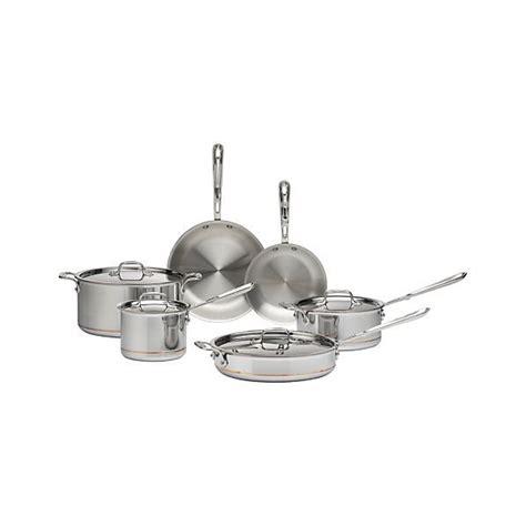 clad copper core  piece cookware set  bonus reviews crate  barrel cookware
