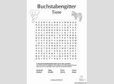 Buchstabengitter mit Tiere Schule Pinterest