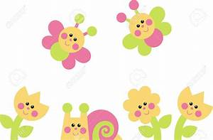 Flower and butterfly clipart - Clipground