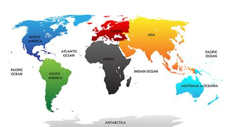 Carte Du Monde à Colorier Powerpoint by How Many Continents Are There Wonderopolis