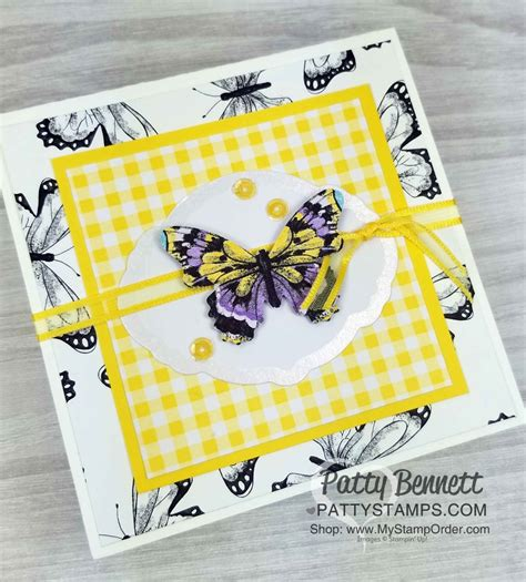 4x4 Butterfly Gala Card Ideas Patty Stamps