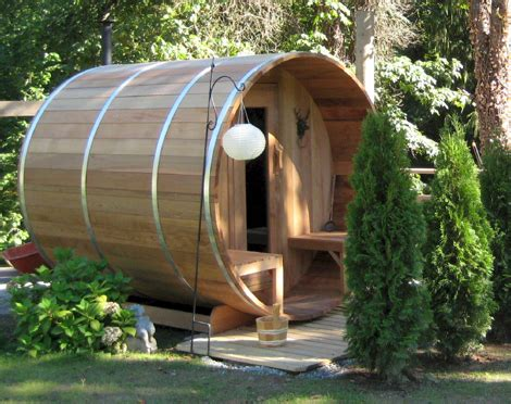 red cedar barrel sauna  dundalk canada barrel