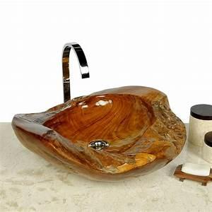Waschtische Holz Mit Aufsatzwaschbecken : teakholz waschbecken 45 cm bei wohnfreuden kaufen ~ Lizthompson.info Haus und Dekorationen