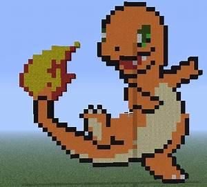Images of minecraft pixel art pokemon charmander golfclub charmander pixel art minecraft project maxwellsz