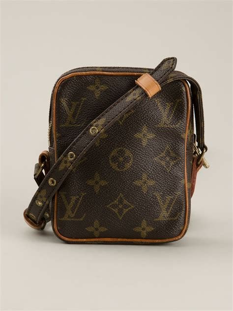 louis vuitton mini danube shoulder bag  brown lyst