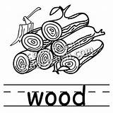 Wood Clip Plank Words Clipart Basic Coloring Template sketch template