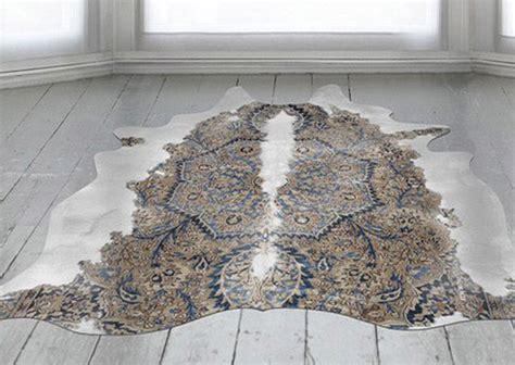 1000 id 233 es sur le th 232 me tapis en peau de vache sur tapis tapis patchwork et peau de