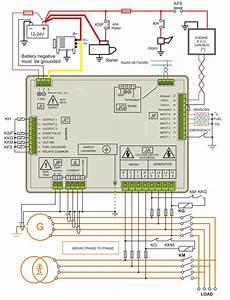 Diesel Generator Control Panel Wiring Diagram  U2013 Genset Controller