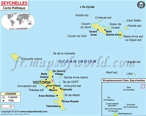 Carte Du Monde Avec Les Seychelles by Carte Seychelles Carte Des Seychelles
