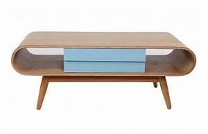 Table Basse Bois Pas Cher : table basse scandinave bois naturel bleu baltik table ~ Carolinahurricanesstore.com Idées de Décoration