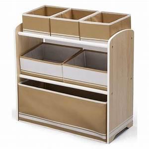 delta meuble de rangement enfant jouets 6 bacs en bois With meuble de rangement jouets chambre