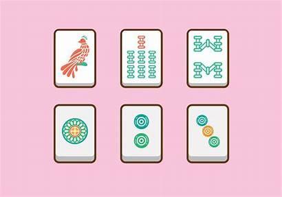 Mahjong Vector Tiles Svg Vecteezy Clipart Graphic