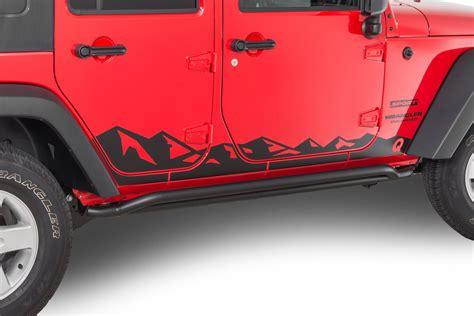 mountain jeep decals quadratec 13135 0700 premium vinyl rocker panel mountain