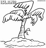 Island Coloring Pages Colorings sketch template