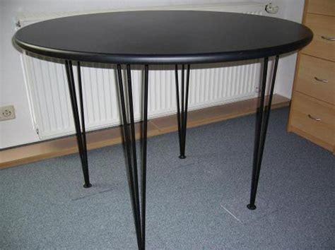 tisch rund schwarz tisch rund 1m schwarz mit metallf 252 223 en neuwertig in waiblingen speisezimmer essecken kaufen