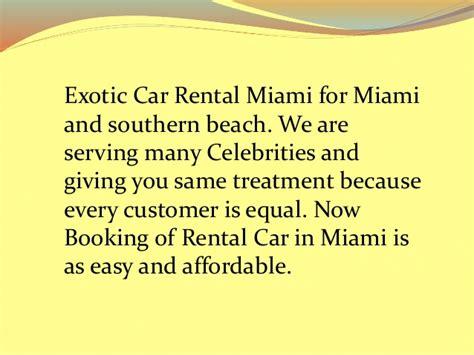 Of Miami Car Rental Drop by Car Rentals Miami Florida