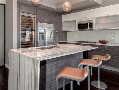 Kitchen  Modern Gray Kitchen Counter And Bar Stools Base