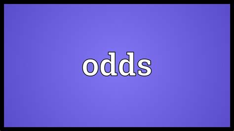 Odds Meaning - YouTube