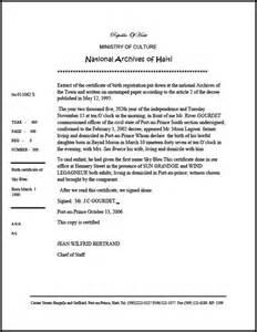 extrait d acte de mariage caribbean living haiti extrait d 39 acte de naissance extract of certificate of birth