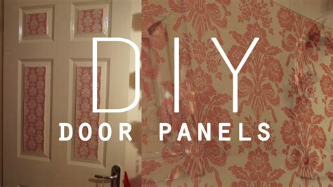 diy room decorations wallpaper door panels youtube